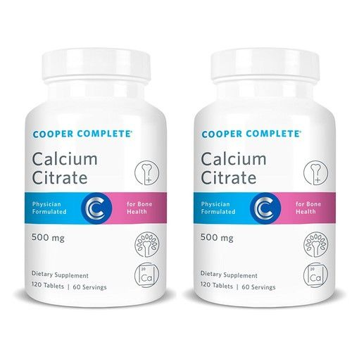 Cooper Complete - Calcium Citrate Supplement - 500mg - 120 Day Supply