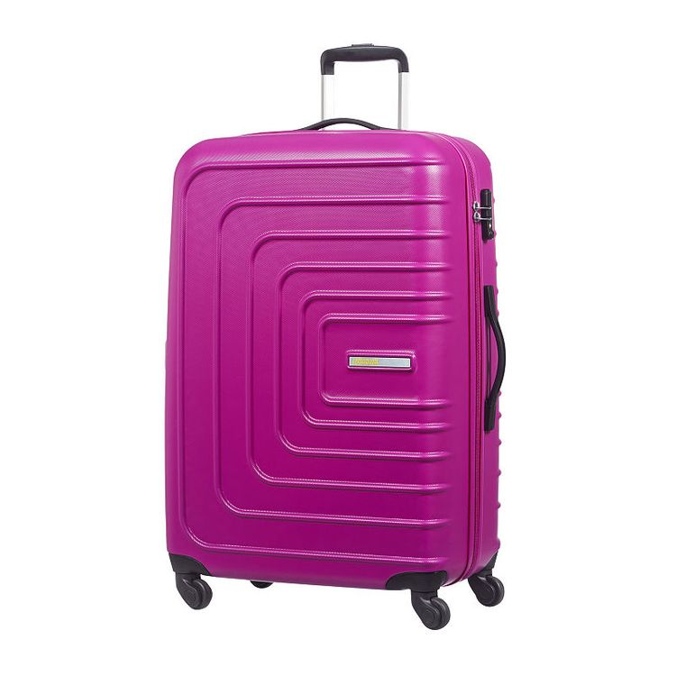 """American Tourister Sunset Cruise 24"""" Expandable Hardside Checked Spinner Luggage Pink Berry - American Tourister Hardside Checked"""