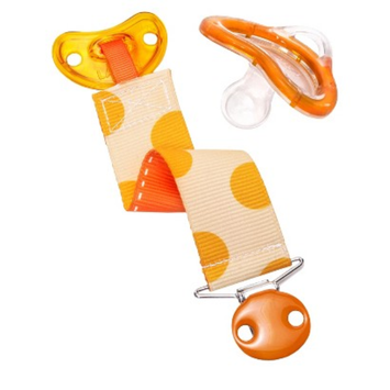 Munchkin LATCH Pacifier & Designer Clip, 0+ Months - Orange