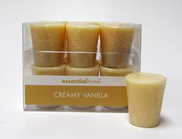 Dynamic Designs Essential Home Creamy Vanilla Scented Votive Candle - dynamic designs