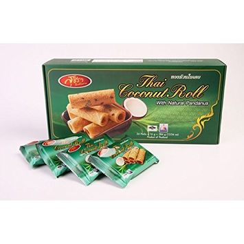 Thai Crispy Roll Coconut with Natural Pandanus 192g (6.76oz)