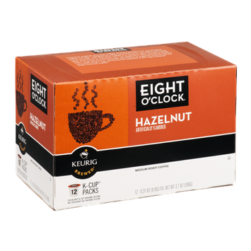 Eight O'Clock Keurig Brewed Coffee Hazelnut Medium Roast - 12 CT