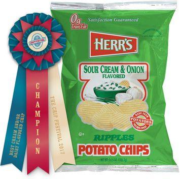 Herr's® Sour Cream & Onion Potato Chips