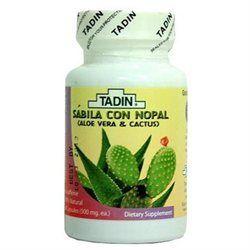 Tadin Aloe Vera & Cactus Dietary Supplement, Capsules