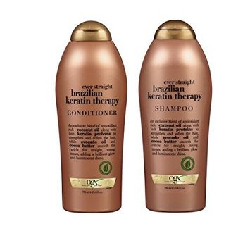 OGX Conditioner, Ever Straightening + Brazilian Keratin Therapy, One Bottle (25.4oz)