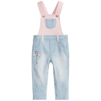Baby Girls Colorblocked Overall, Created for Macy's