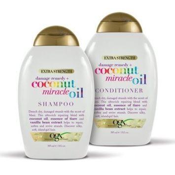 OGX Damage Remedy + Coconut Miracle Oil Shampoo & Conditioner Set, 13 Oz