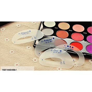 Magic Easy DIY Eye Shadow Makeup Assist Guide Stencil Applicator Template Tracing Draw Card Set for Perfect Professional Tint Color Tone Accent AOSTEK(TM)