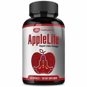 Apple Cider Vinegar Capsules 1000mg - 100% Natural Non-GMO ACV Diet Pills, Detox, Cleanser with Cayenne Pepper and Ginger for Extra Strength, Maintain Healthy Metabolism & Digestive Health - 120ct