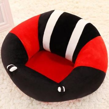 Portable Size Comfortable Newborn Baby Infant Baby Dining Lunch Chair Seat Safety Cotton Plush Legs Feeding Chair,Black