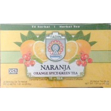 Tadin Orange Spice Green Tea Bag, 25-count