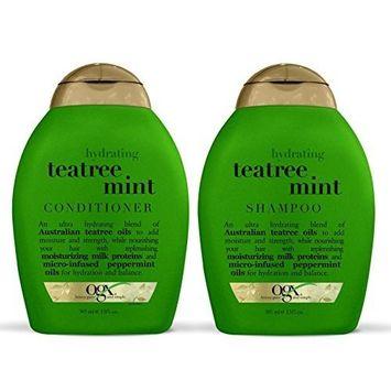 OGX Organix: Tea Tree Mint Hydrating Shampoo + Conditioner, 13 oz Combo Pack