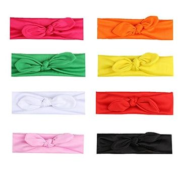 Mydio 8 Pack Women's Headbands Hair Band Bows Accessories,Girls Turban Headwraps Assorted Colors