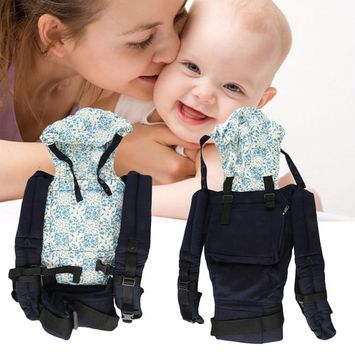 Warm Cotton Front & Back Baby Carrier Comfort Backpack Sling Wrap