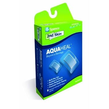 Spenco 2nd Skin Aquaheal Hydrogel Bandages, Sports Mixed Size 6-Count [Sports Mixed 6-Count]