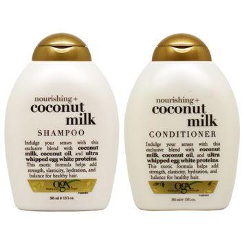 Ogx Nourishing Coconut Milk Shampoo + Conditioner 13oz 'Duo' (Pack of 2)