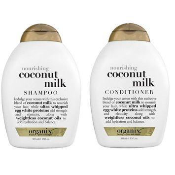 Organix: Nourishing Coconut Milk Shampoo + Conditioner, 13 oz Combo Pack