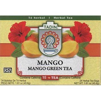 Tadin Mango Green Tea Bag, 25-count