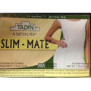 3 Pack - Tadin Tea Slim Mate 24 (72) Bags per Box Premier Dieters Herbal TEA