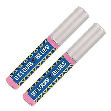 St. Louis Blues Lip Gloss [2 Pack] Soft Pink, Sheer, Smooth & Shiny. NHL gifts for women. Great for Valentine's Day, Easter, Mother's Day, stocking stuffers, birthdays. By Worthy.