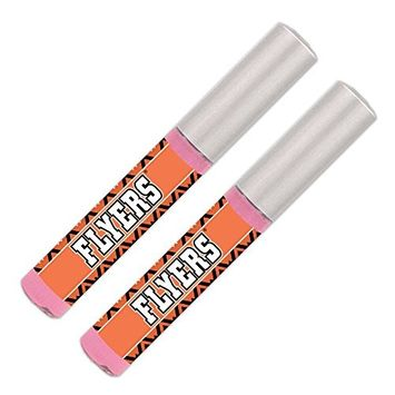 Philadelphia Flyers Lip Gloss (2 Pack) Soft Pink, Sheer, Smooth & Shiny. NHL gifts for women. Great for Valentine's Day, Easter, Mother's Day, stocking stuffers, birthdays. By Worthy.