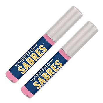 Buffalo Sabres Lip Gloss (2 Pack) Soft Pink, Sheer, Smooth & Shiny. NHL gifts for women. Great for Valentine's Day, Easter, Mother's Day, stocking...