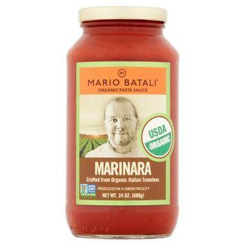 Summer Garden Food, A Green Leed Facility Mario Batali, Sauce Marinara Org, 24 Oz (Pack Of 6)
