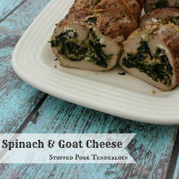 Thanksgiving Inspo: Spinach & Goat Cheese Stuffed Pork Tenderloin