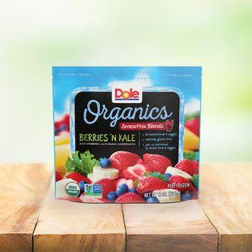 Dole Organics Berries 'N Kale Smoothie Blends