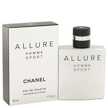 Chånel Allurë Spört Cŏlogne For Men 1.7 oz Eau De Toilette Spray + FREE VIAL SAMPLE COLOGNE