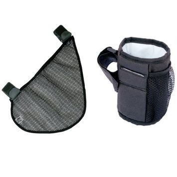 JL Childress Side Sling and Cup 'N Stuff Stroller Pocket Set