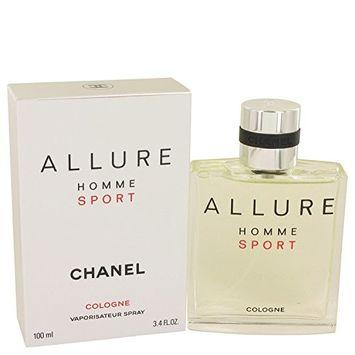 Chånel Allurĕ Spŏrt Cŏlogne For Men 3.4 oz Cologne Sport Spray + a FREE After Shave Balm For Men