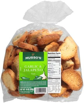 musso's™ oven baked garlic & jalapeno toast