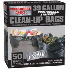 Contractor's Choice 50-Count 39-Gallon Outdoor Trash Bags LW39WC050B
