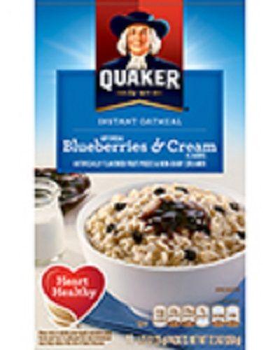 Quaker Life® Blueberries & Cream Instant Oatmeal