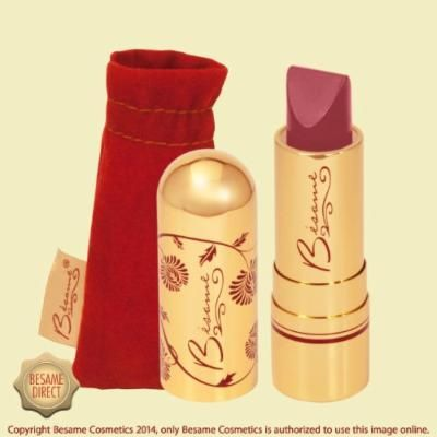 Besame Cosmetics Classic Color Lipstick, Dusty Rose, 0.12 Ounce