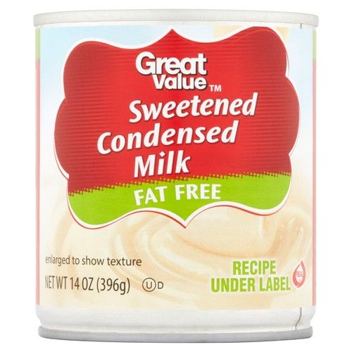 Great Value Sweetened Condensed Fat Free Milk, 14 oz