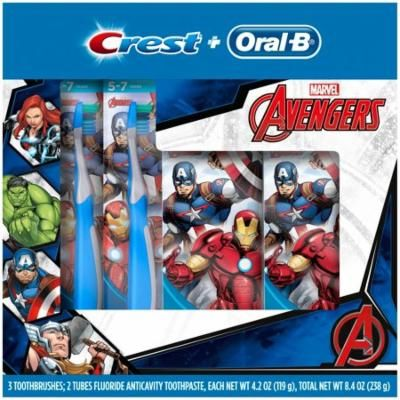 Crest® + Oral-B® Marvel Avengers Toothbrushes & Toothpaste 5 pc Box