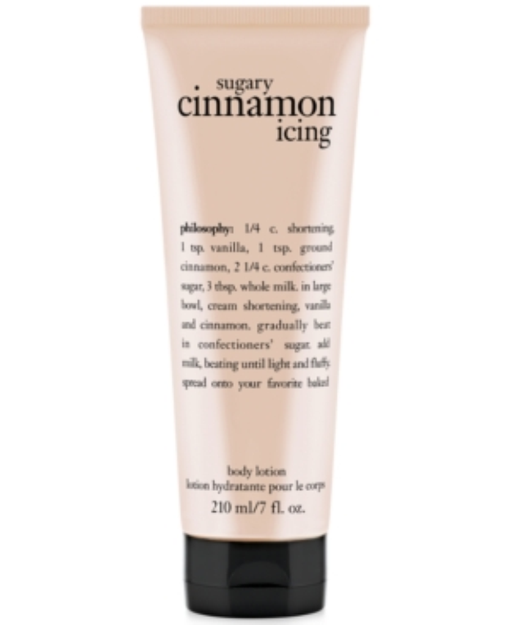 philosophy sugary cinnamon icing body lotion, 7 oz