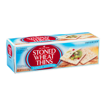Red Oval Farms Stoned Wheat Thins Lower Sodium Wheat Crackers