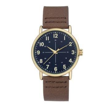 Men's Easy Read Strap Watch - Goodfellow & Co™ Brown