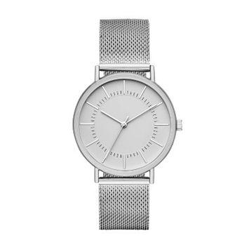 Men's Mesh Strap Watch - Goodfellow & Co™ Silver