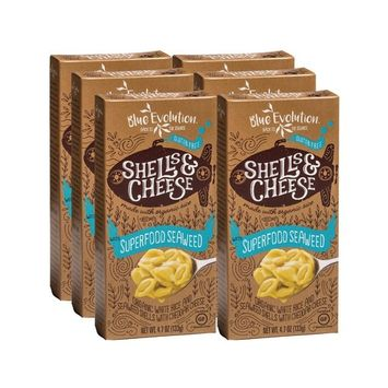 Certified Gluten Free Pasta Shells Infused With Superfood Seaweed 4.7oz, Organic Rice Pasta Plus Seaweed Benefits, Classic Cheddar-Cheesy Taste, Exceptionally Fulfilling, Kid Approved
