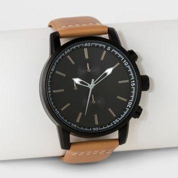 Men's Strap Watch - Goodfellow & Co™ Brown