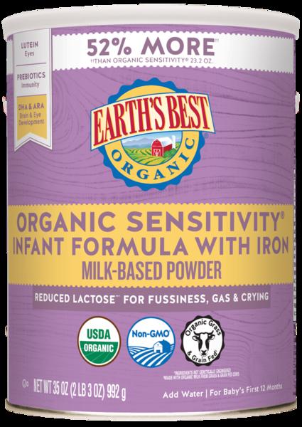 Earths Best Organic® Sensitivity® Infant Formula