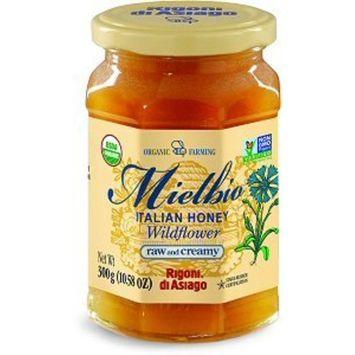 Rigoni Di Asiago Meilbio Italian Raw and Creamy Honey, Wildflower, 10.58 Ounce