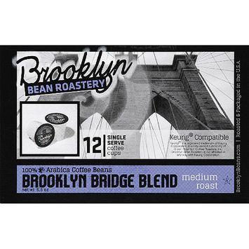 Brooklyn Bean Roastery Brooklyn Bridge Blend Coffee K-Cups, 12 count, (Pack of 6)