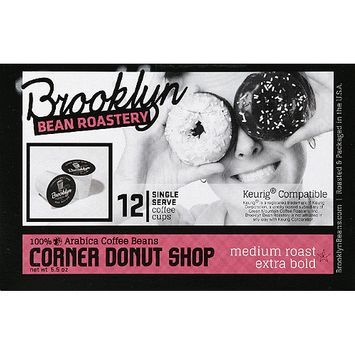 Brooklyn Bean Roastery Corner Donut Shop Coffee K-Cups, 12 count, (Pack of 6)