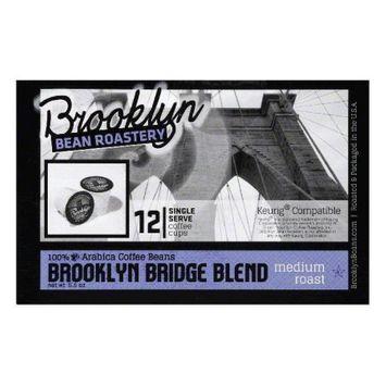 Brooklyn Bean Roastery Medium Roast Coffee Brooklyn Bridge Blend 12 K-Cups