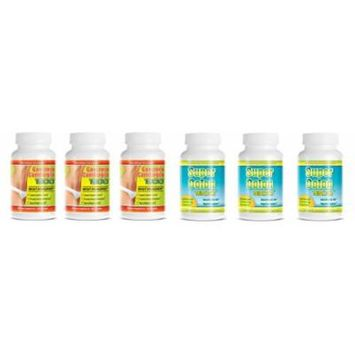 Garcinia Cambogia Extract 1000mg. & Super Colon 1800 Weight Loss 60 Capsules Per Bottle (3 Set's)